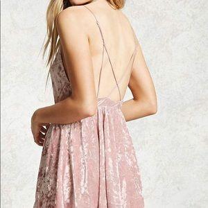Brandy Melville Dresses - Crushed velvert romper